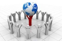 Leiders opheffende wereld stock illustratie