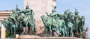 Leiders van Heldenvierkant royalty-vrije stock afbeelding