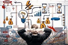 Leiding en ideesucces Royalty-vrije Stock Afbeeldingen