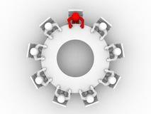 Leiding en team bij conferentielijst. Royalty-vrije Stock Afbeelding