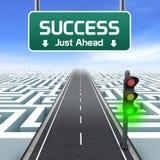 Leiding en zaken. Succes enkel vooruit Stock Afbeeldingen