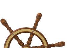 Leidraad van varend schip op witte achtergrond 3D Illustratie Royalty-vrije Stock Foto