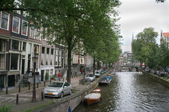 The Leidsegracht is one of the famous Amsterdam canals Stock Photo