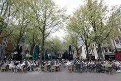 Leidseplein是一个正方形在阿姆斯特丹的中心 库存照片