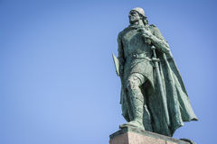 Leif Erikson statue in Reykjavik, Iceland Stock Image