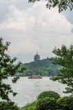 Leifeng pagod, Hangzhou, Kina Arkivbild