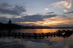 Leifeng Pagode Stockfoto
