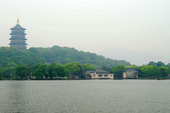 The Leifeng tower. Beside the west-lake (in Hangzhou,China Stock Image