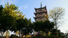 A Leigang Tower at Leigang Park in Foshan. A Leigang means a long long ago story. A huge   monster in this area, a man collect it and suppress it using a Tower Stock Images