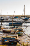 boats at low tide Royalty Free Stock Photo