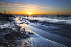 Leigh on Sea Sunrise Royalty Free Stock Images