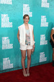 Leighton Meester arriving at the 2012 MTV Movie Awards Royalty Free Stock Image