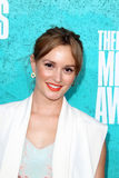 Leighton Meester arriving at the 2012 MTV Movie Awards Royalty Free Stock Photo
