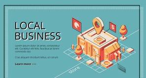 Leihprogramm für lokale Geschäftsvektorwebsite lizenzfreie abbildung