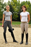 Leila Gyenesei and Zsuzsanna Voros pentathlonists Royalty Free Stock Image
