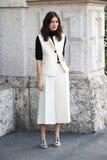 Leila yavari Milano, Milan moda tygodnia streetstyle jesieni zima 2015 2016 Zdjęcie Stock
