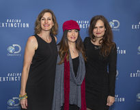Leilani Munter:  Posing in the Fast Lane. Professional American race car driver and environmental activist Leilani Munter (center)arrives on the red carpet for Stock Image