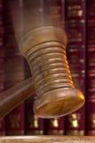 Leiloeiro ou martelo dos juizes - ordem! Ordem! Foto de Stock