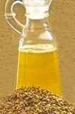 Leinöl und Leinsamen stockbilder