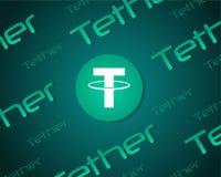 Leinenart blockchain Hintergrundsammlung Stockfoto
