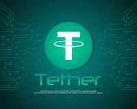Leinenart blockchain Hintergrundsammlung Lizenzfreies Stockfoto