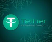 Leinenart blockchain Hintergrundsammlung Lizenzfreie Stockfotografie