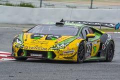 Leipert-Motorsport-Team Lamborghini Huracan 24 Stunden von Barcelona Lizenzfreie Stockfotos