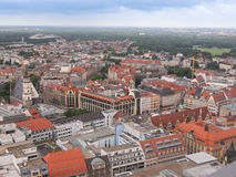 Leipzig aerial view stock images