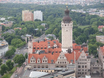 Leipzig aerial view Royalty Free Stock Photo