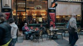 LEIPZIG, ALLEMAGNE - 1ER MAI 2018 Entrée de Mephisto de café Image libre de droits