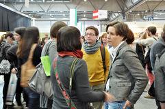 Jour public pour la foire de livre de Leipzig Photo libre de droits