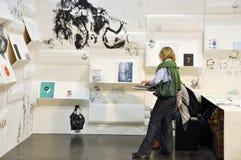 Jour public pour la foire de livre de Leipzig Photographie stock libre de droits