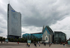 Leipzig - Augustusplatz Fotografía de archivo