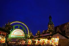 Leipzig christmas market Royalty Free Stock Photos