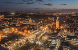Leipzig city in the night Stock Photos