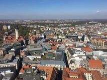 Leipzig cityscape royaltyfri foto