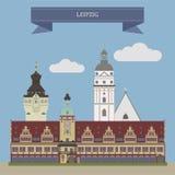 Leipzig, Deutschland lizenzfreie abbildung