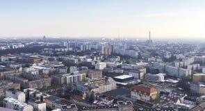 Leipzig Duitsland van hierboven Stock Afbeelding