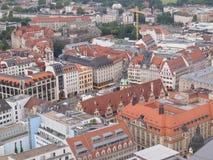 Leipzig flyg- sikt royaltyfri fotografi