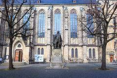 The Johann Sebastian Bach monument of Leipzig Stock Image