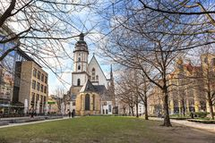 The Thomaskirche of Leipzig Stock Images