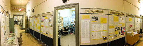 LEIPZIG, GERMANY - JULY 2016: Tourists visit Stasi Museum. Leipz Stock Photo