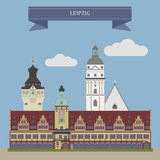 Leipzig, Germany. Leipzig, largest city in the federal state of Saxony, Germany royalty free illustration
