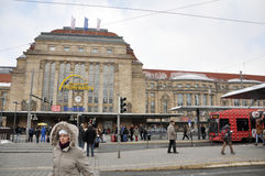 The Leipzig Hauptbahnhof. LEIPZIG, GERMANY - MARCH 15: The Leipzig Hauptbahnhof (Central Station) on March 15, 2010 in Leipzig, Germany. The Leipzig Central Stock Photography