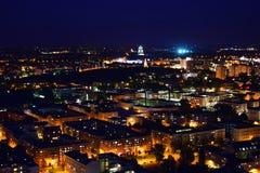 Leipzig la nuit photographie stock