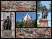 Leipzig landmarks collage. Landmarks collage of the city of Leipzig, Germany Stock Photos