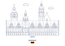Leipzig City Skyline, Germany Stock Photography