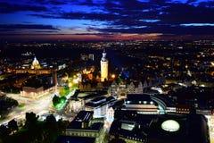Leipzig nachts Lizenzfreie Stockfotos