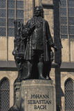 Leipzig. The New Bach Monument in front of St Thomas's Church in Leipzig Royalty Free Stock Image
