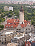Leipzig new Townhall Royalty Free Stock Photography